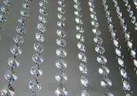 cristal claro contas miçangas venda por atacado-66 FT Guirlandas de Cristal Transparente Acrílico Bead Cadeia de Casamento Partido Manzanita Árvore Pendurado Decoração Do Casamento