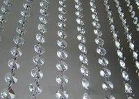 acryl bäume für hochzeit dekorationen großhandel-66 ft Kristallgirlande Stränge klar Acryl Perlenkette Hochzeit Manzanita Baum hängen Hochzeitsdekoration