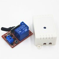 Wholesale 433mhz transmitter receiver module - Wholesale- 1CH DC 24V 10A 433 Mhz Wireless Remote Control Switch 433Mhz Receiver Module For learning code Transmitter Remote