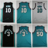 Wholesale Teal White Jersey - Throwback Basketball Jerseys 3 Shareef Abdur Rahim 10 Mike Bibby 50 Bryant Reeves Retro Teal White Stitched Shirts Basketball Jersey S-XXL