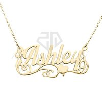 Wholesale names personal - Stainless Steel Gift Personal Silver Lots of Love Name Necklace Customized Personalized Nameplate Pendant Name Necklace