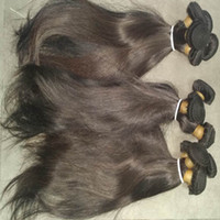 Wholesale Indian Hair Smooth - 6pcs lot Virgin Raw Indian Brazilian Malaysian Straight Human Hair 50g pcs Unprocessed Silky Smooth Texture Sale now