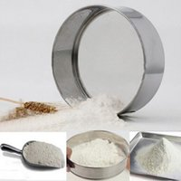 Wholesale Kitchen Sieve Strainer - 15CM Stainless Steel Mesh Flour Sifter Mechanical Baking Icing Sugar Shaker Sieve Strainer Mesh Powder Cake Baking Kitchen Tool