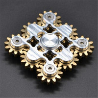 Wholesale Toy Gear Wheels - 2017 EDC hand spinner Gadget 9 GEAR Hand spinner fidget toy Steampunk fidget machine with 9 wheels Top Finger Gyro Decompression Anxiety Toy