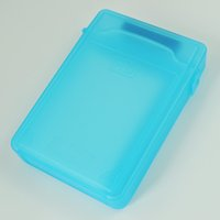 mavi hdd toptan satış-Toptan Satış - GTFS-Sıcak Satış Mavi 3.5 inç IDE SATA HDD Saklama Kutusu Kasa Muhafazaları HDD Polipropilen Kutuları