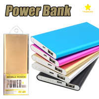 Wholesale mobile phone cable chargers online – 20000Mah Ultra Thin Slim Power Bank Phone Charger Portable External Battery Polymer Powerbank for iPhone Android mobile phone Tablet PC