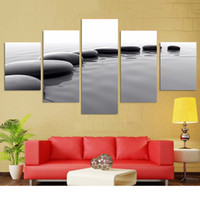 Wholesale Still Life Paintings Canvas - Classic Canvas Wall Art Decoration Black And White Still Life Paintings Unframed Canvas Paint Home Living Room Decor Spray Painting 5 Panels