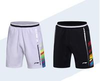 ingrosso linea veloce-Pantaloncini Li-Ning Badminton World Championships, Pantaloncini badminton, Poliestere ad asciugatura rapida, LiNing lin dan Pantaloncini Badminton M-4XL AAYM067 AAPM069