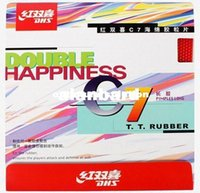 Wholesale Sponge Rubber Balls - Hot- DHS table tennis ball C7 Long Pips-Out Rubber Double happiness LONG PIMPLES pingpong rubber with sponge