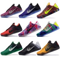 Wholesale Sale Woven Table - 2016 Cheap Sale kobe 11 Elite Men's Basketball Shoes for Top quality Black White XI KB Weaving Sports Training Sneakers Size 7-12