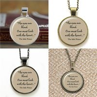 Wholesale Glass Blinds - 10pcs The Little Prince quote The eyes are blind words pendant glass Necklace keyring bookmark cufflink earring bracelet