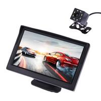 vision nocturne caméra de voiture arrière achat en gros de-Moniteur d'affichage de vue arrière de 5 pouces TFT LCD + vision nocturne imperméable à l'eau