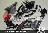 Wholesale Silver R6 Fairings - Fairing For Yamaha YZF-R6 YZF R6 06 07 2006 2007 Injection White FD6661 Black FD6632 Silver FD6636