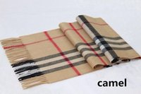Wholesale Winter Thick Scarf - Gift Top 100% Cashmere Unisex Winter Scarf Men and Women 2017 Famous Brand Big Size Plaid Scarves Men Pashmina Infinity Scarf Thick Shawl