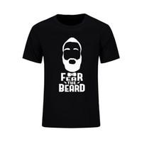 Wholesale Arizona Clothing - 2017 New Jersey T Shirt James Harden Fear The Beard Short Sleeve T-shirt Houston MVP Arizona State Jersey Brand Clothing Top Tee