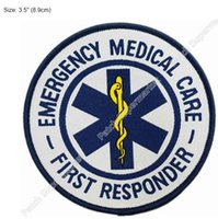 "Wholesale Iron First - 3.5"" Emergency Medical Care First Responder Star of Life LOGO Patch Woven SEW ON IRON ON Badge wholesale free shipping dropship"