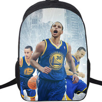 Wholesale Golf Bag Coolers - Cool picture backpack Stephen Curry school bag Printing daypack Basketball schoolbag Outdoor rucksack Sport day pack