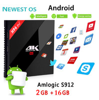 Wholesale internet tv android - H96 Pro Plus 2GB 16GB TV Box Amlogic S912 Octa Core Android 7.1 Smart Boxes 2.4G 5.8GHz Wifi HDMI 4K Internet Media Player S10 T95R