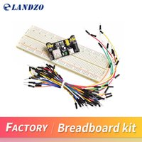Wholesale Hdmi Cable Blister - MB102 Breadboard power module+MB-102 830 points Solderless Prototype Bread board kit +65 Flexible jumper wires