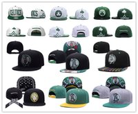 Wholesale Discount Snap Backs - 2017 Discount price Basketball Boston Snapback pierce Caps Adjustable BaSeball Snap Back Snapbacks Players Sports free shipping