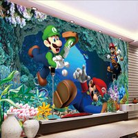 Wholesale underwater wallpaper murals - Cartoon 3d underwater world super Mary kindergarten large mural wallpaper living room children bedroom wallpaper fresco