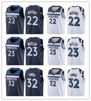 fb43c08fb7a Basketball Sleeveless Polyester 2017 2018 New Brand Minnesota 23 Jimmy  Butler Jersey Home Road Mens 22