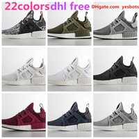 Wholesale Ems Shoes - 2017 22 colors DHL $ EMS FREE NMD XR1 Fall Olive green Sneakers Women Men Youth Running Shoes