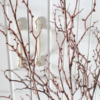 Wholesale Dried Stems - 1 PCS Beautiful Artificial 160CM (63 inch) Long Stem Plastic Dried Thin Tree Branch Plant Wedding Home House Decoration F366