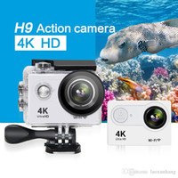 H9 Action-Kamera 4K WiFi Ultra HD 1080p / 60fps 720P / 120FPS pro wasserdicht Mini-Cam-Bike-Video gehen Sport-Kamera