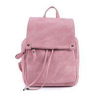 Wholesale Pu Leather Rucksack Backpacks - Women Leather Backpacks School Bag for Teenage Girls Female Fashion Rucksack Mochila Grey Black Travel Backpack