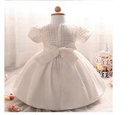 kızlar dantel kore parti elbisesi toptan satış-Yeni Kızlar Tutu Prenses Elbise Kore Tarzı Çocuk Dantel Tül Elbiseler Çocuklar Yaz Kek Parti Elbise Sevimli Bebek Kız Elbise