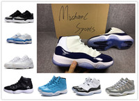 Wholesale Black Red 11s - retro 11 low barons basketball shoes midnight navy UNC gamma Legend blue bred cool grey 11s concords infrared 72 10 men women sneakers
