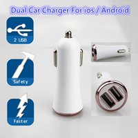Melhor qualidade Dual USB Port Car Charger Adaptável Quick Fast Charge Plated Universal Adapter DC 12-24V 2A para Android IOS Car Chargers