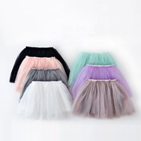 Wholesale Girl Ball Gown Skirts - New summer style lovely ball gown skirt girls tutu skirt pettiskirt 7 colors girls skirts for 2-7 years old kids skirt