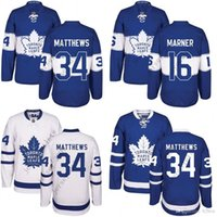 Wholesale Men Toronto Maple Leafs Auston Matthews Mitch Marner Edmonton Oilers Connor McDavid Blue Jersey new season stitched