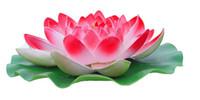 Wholesale Cheap Sale Diameter cm Large artificial lotus flower Floating pool decoration six color Availavle LLFA