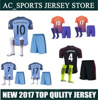 Wholesale high Quality kit sock City Home Away third DZEKO KUN AGUERO KOMPANY DE BRUYNE jerseys kit sock
