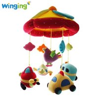 Vente en gros - Wingingkids Newborn Infant Eyes Hands Training Car Baby Toy Mobile Baby Music Rattles Poussette Lit Hanging Kid Educational Toys