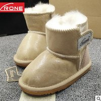 Wholesale Sheepskin Baby Boy - Christmas Infant Baby Girls Snow Boots sheepskin Fur one Warm Toddler Boy Girl First Walker Shoes Infant Boots Newborn Shoes T5039
