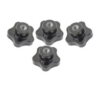 Wholesale Types Screw Heads - 4pcs M6 M8 Female Thread 5 Star Screw On Type Star Head Clamping Nuts Knob Grip