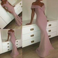 Wholesale long fashionable party dresses - Fashionable V-neck Elegant Mermaid Prom Dresses Pleats Zipper Back Formal Evening Prom Gowns Long vestido longo de festa Party Dresses