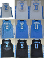 Wholesale M Ii - 2017 North Carolina Tar Heels College Basketball Jersey 44 Justin Jackson 11 Brice Johnson 5 Marcus Paige 2 Joel Berry II Stitched Jerseys