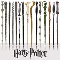 Wholesale hermione wands - harry potter Magical Wand dumbledore Hogwarts wand cosplay wands Hermione Voldemort Magic Wand In Gift Box 36cm 18 design OTH057