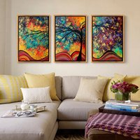 Wholesale Canvas Paintings Sky - Abstract Framed Paintings Starry Sky Oil Painting Picture Modern Wall Landscape Paintings On Canvas Pictures For Room Decor Painting