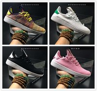 Wholesale Dot Net - Originals PW Human Race NMD Tennis HU Pharrell Williams X Smith Mens Shoes sole-upper linking Net cloth shoes Blanc Vert Seankers