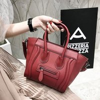 Wholesale Face Artwork - wholesale brand handbags and fashion color leather handbag classic style premium leather bag lovely smiling face all-match cartoon laptop ba