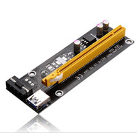 Wholesale Extender Extension Adapter - PCI-E 1x to 16x Powered Riser Adapter Card USB 3.0 Extension Cable MOLEX to SATA Power Cable GPU Riser Extender Cable Mining for PC Desktop