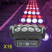 16pcs / lot прямые продажи заводы 8x12W RGBW 4in1 MIni Spider Moving Head Lights LED Disco Dj Stage
