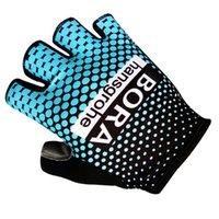 Wholesale Fingerless Padded Gloves - 2017 Bora Cycling Gloves Bike Bicycle Sport Gloves Guantes Ciclismo GEL pad Shockproof Gants Half Finger Luvas Rukavice