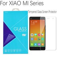 película transparente roja al por mayor-Xiaomi Mi4 M5 Glass Film Original Xiaomi Mi 4 Protector de pantalla de vidrio templado transparente para XIAO MI Redmi Red mi teléfono